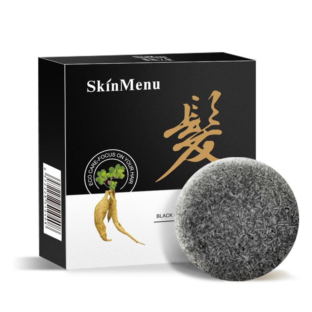 1Pc 2020 Hair Darkening Shampoo Bar - He Shouwu Natural Organic Conditioner Moisturize And Repair Damaged Hair Hair Care Soap