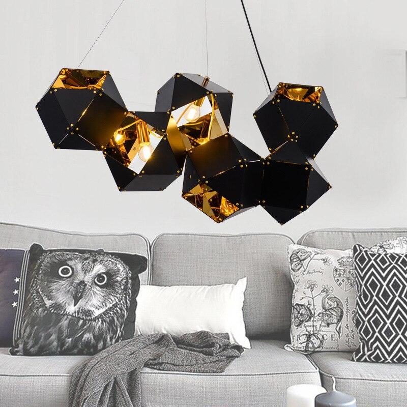 Lampen Industrieel Hanglamp Glass  Living Room  LED  Pendant Lights Lustre Pendente