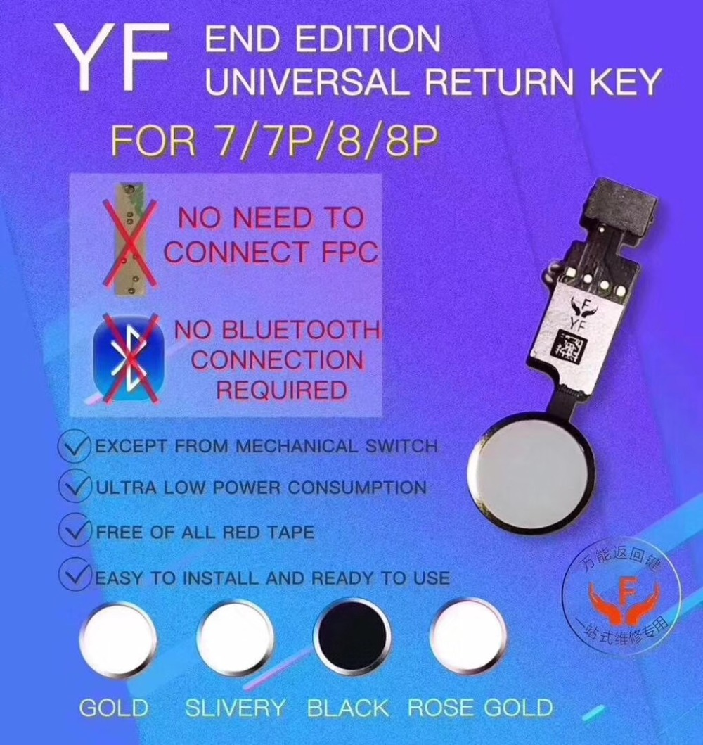 YF 3rd Gen Universal Home Button Flex Cable For IPhone 7 7g 8 8G Plus Menu Keypad Return On Off Fuction Solution