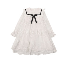 Girl Dress 2021 New Spring Summer Princess Dress for Girls Kid Clothing Lace Dress for 4-15 year