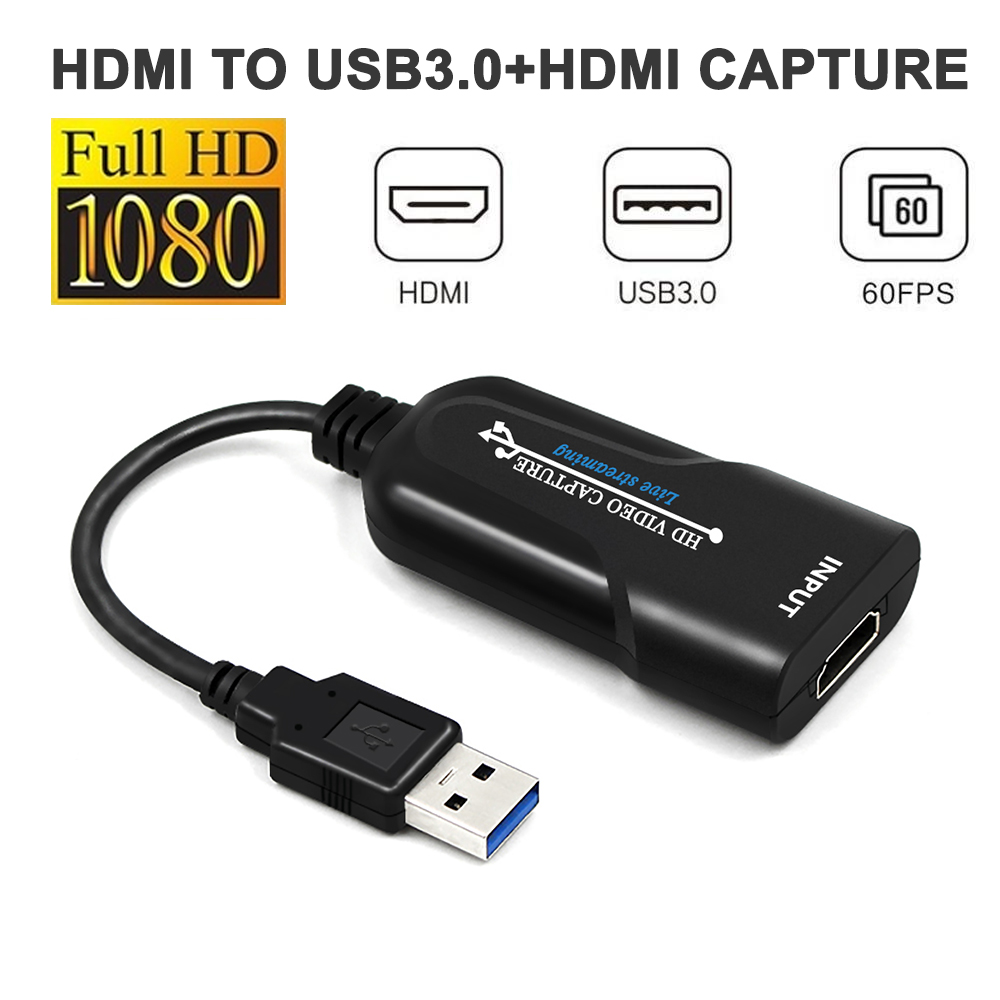 Portable USB3.0 HDMI Acquisition Card USB3.0 1080p60 Frame Acquisition Box Drive Free Video Recording   Card