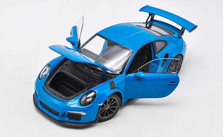 Welly 1/24 1:24 2016 Porsche 911 GT3 RS Sport voiture de course véhicule moulé sous pression modèle d'affichage anniversaire enfants jouet pour enfant garçons filles - 6