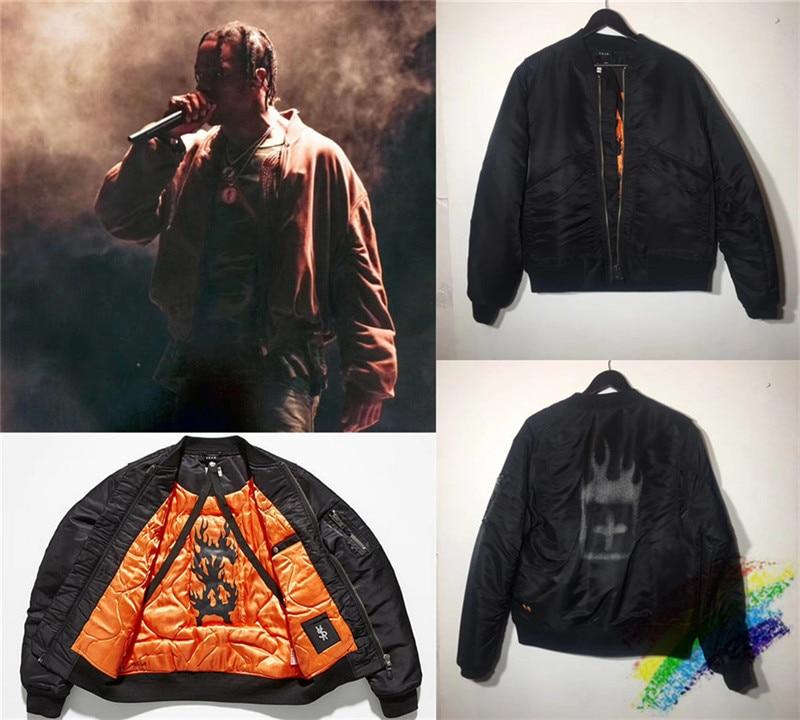 New Travis Scott Bomber Astroworld Jacket Men 1:1 High-Quality Fashion MA-1 Force Pilot Jacket Travis Scott Jackets