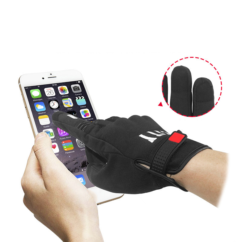 Autumn Winter Stealth Armor Motorcycle Riding Gloves Touchscreen Tech Reflective Off-road Racing Full finger Black