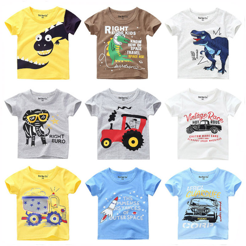 Boys T-<font><b>shirt</b></font> Kids <font><b>Basic</b></font> T <font><b>Shirts</b></font> Tractor Print Top Tees Children Cotton Clothing <font><b>Baby</b></font> Boy Design <font><b>Shirts</b></font> Kids Clothes image