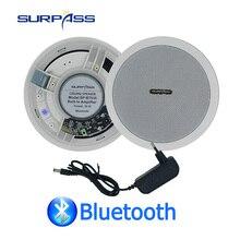 Waterproof נבנה דיגיטלי Class D מגבר Bluetooth תקרת רמקול 10W 5 אינץ פעיל LoadSpeaker עבור מקורה השמעת מוסיקה