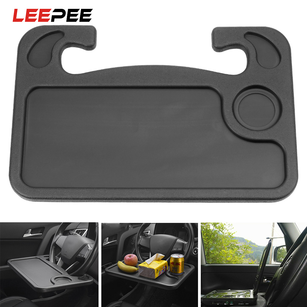 LEEPEE Car Steering Wheel Work Food Tray Desk Mount Stand Portable Laptop Holder Auto Accessories