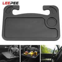 LEEPEE-soporte portátil para el volante del coche, bandeja de escritorio para comida, accesorios para el coche