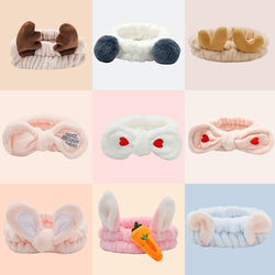 New Cute Antler Cat Ears Headbands for Women Girls Makeup Face Washing Headband Headwrap Hairband Holder Turban Hair Accessories
