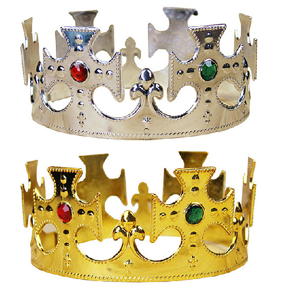 Kids Imperial Crown Birthdays Happy Birthday Party Decoration Royal King Plastic Crown Prince Costume Accessory Bbay Gifts