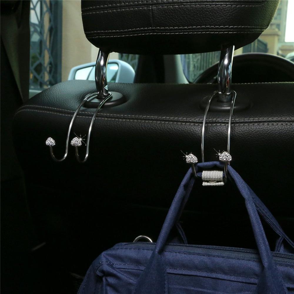 Car Seat Back Drill Hook Stainless Steel Peach Heart Generic Car Headrest Hook  Car Seat Hook Rugged Frame