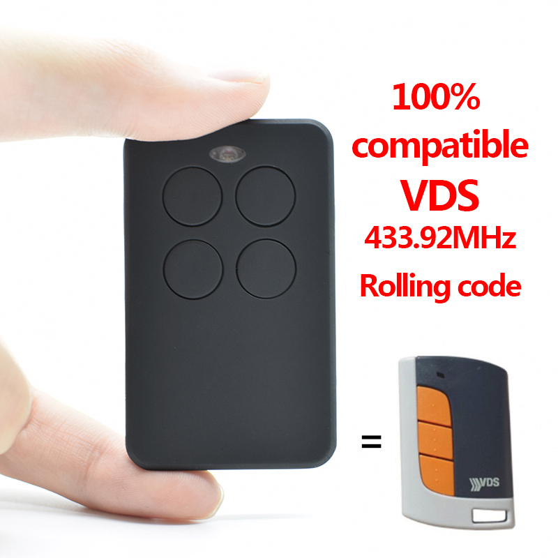 VDS Garage Gate Door Remote Control 433MHz VDS TRQ P,ECO-R Transmitter 433.92MHz Rolling Code Garage Command Opener