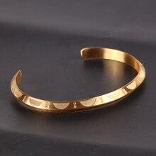 Mcllroy Retro Vintage Viking Cuff Stainless Steel Bracelet For Women Men Gold Open Classic Bracelets Bangles Unisex Jewelry 2019 цена в Москве и Питере