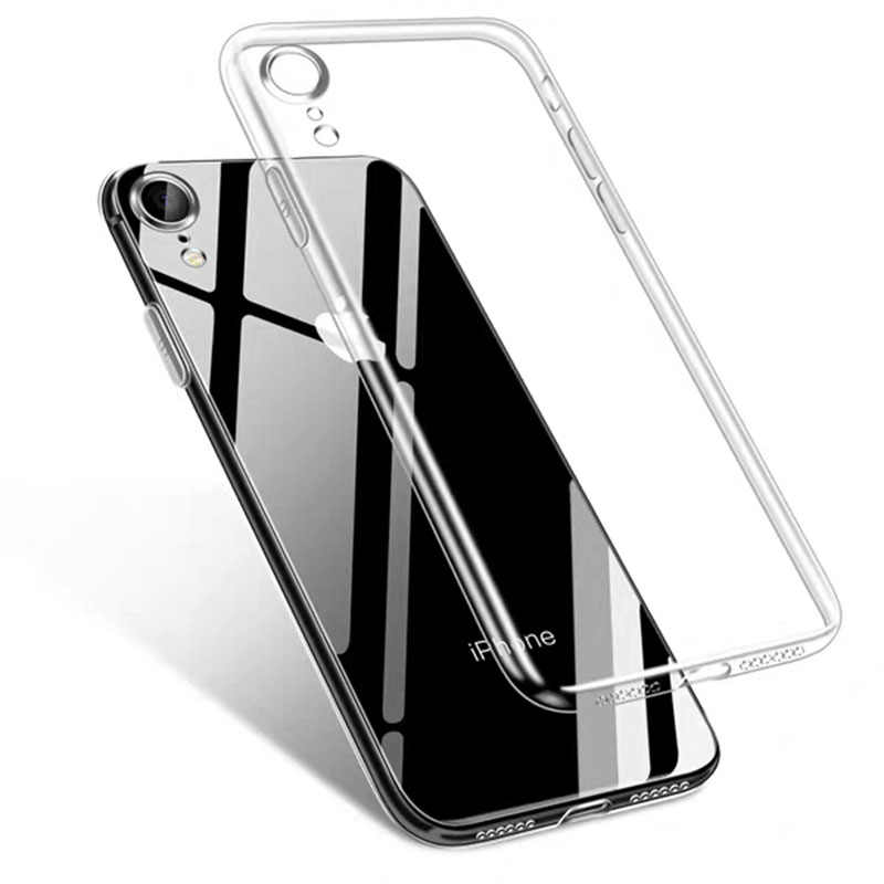 Bening Case untuk iPhone 11 Pro Max XS XR X XS Max 7 8 6 6S Plus 7 PLUS 5S SE 11 Pro Transparan Lembut TPU Slim Ponsel Case Penutup Belakang