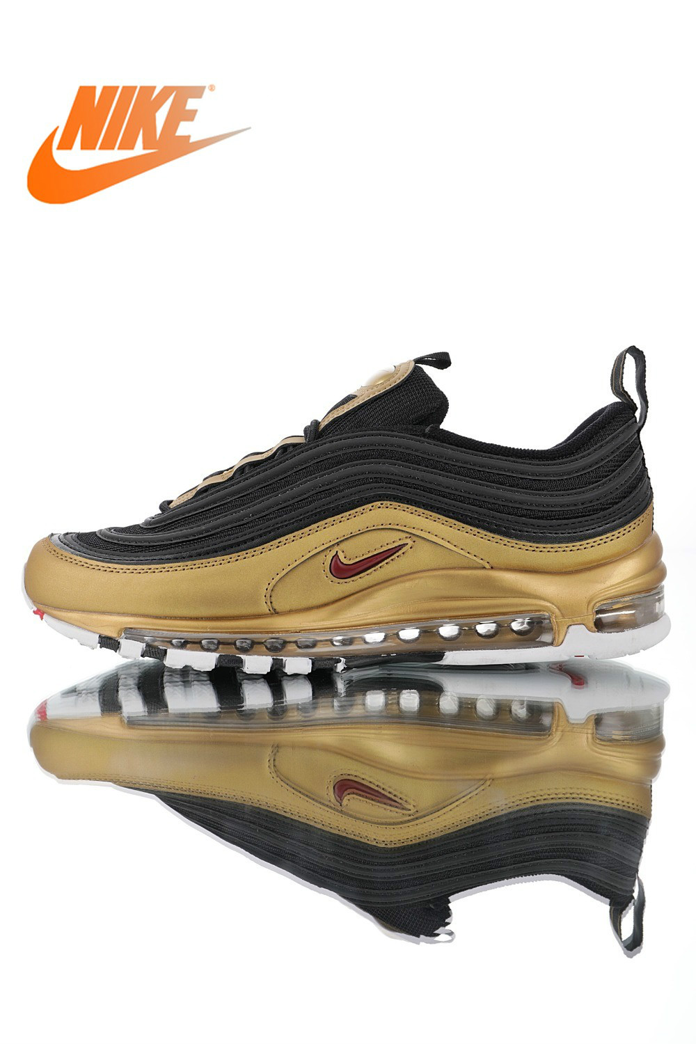 Original Authentic Nike Air Max 97 QS 2017 RELEASE Men's Running Shoes Fashion Outdoor Sports Sports Shoes AT5458-002
