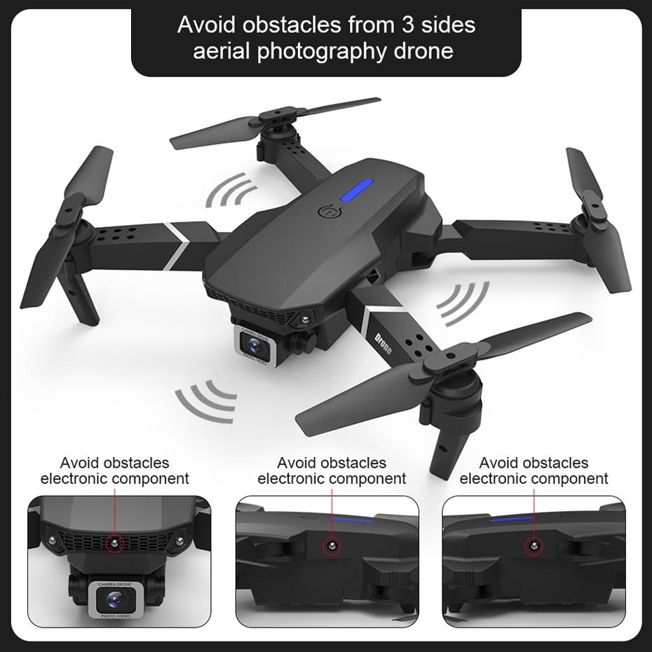 KEELEAD E525 PRO Mini Drone 4K HD Double Camera WiFi Fpv Foldable Quadcopter rc helicopter child Dron Gift 1