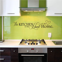 English Alphabet Kitchen Love Vinyl Carving Removable Wall Sticker Art Word Kitchen Background Decoration Home Decal SP-135