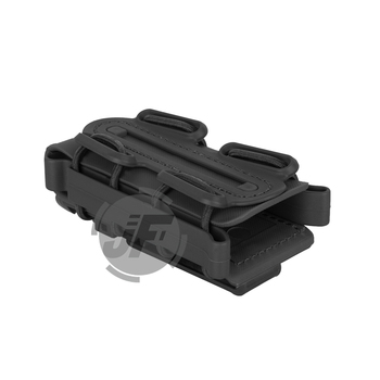 Tactical Soft Shell Magazine Pouch 9mm Single Stack 45 Caliber Pistol Magazine Carrier w/ Duty Belt Loop 5