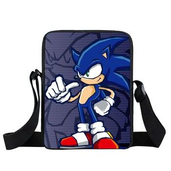 cartoon sonic small shoulder bag children school bags kids bookbag boys girls crossbody bag mini messenger bags gift
