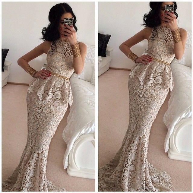 2018 Elegant Mermaid Crew Sleeveless Sashes Formal Party Prom Gown Floor-Length Full Lace Off The Shoulder Bridesmaid Dresses