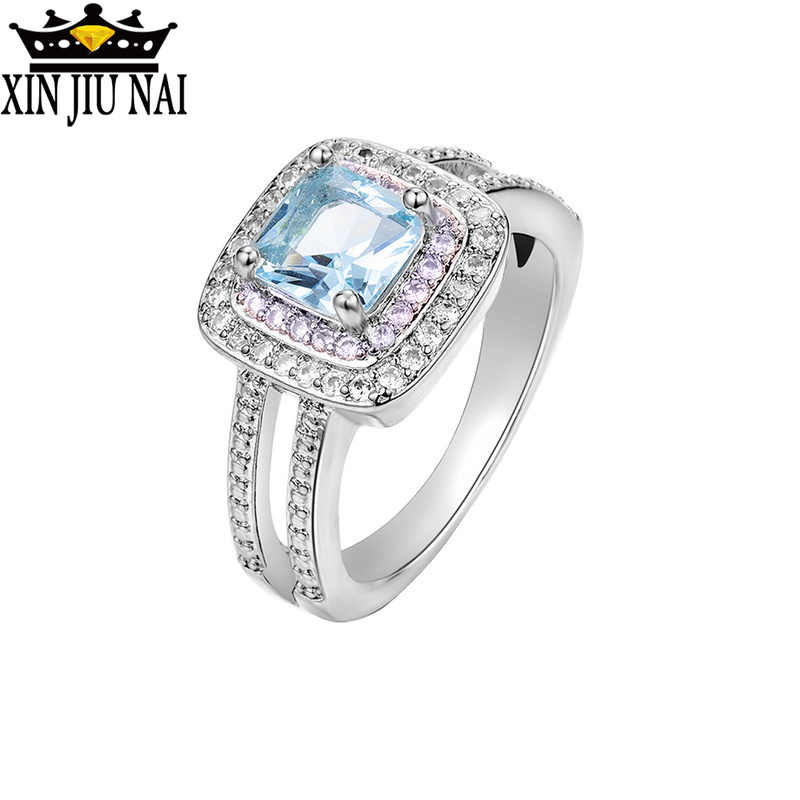 925 anillos เงินแฟชั่นรายวันแหวน AAAAA Zircon CZ วงแหวนผู้หญิงผู้ชาย/ผู้หญิงนิ้วมือเครื่องประดับ