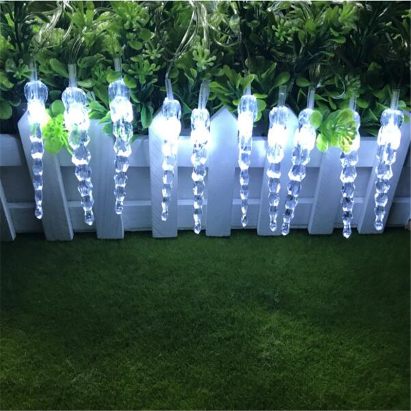 7.5m 50Led Curtain Icicle String Lights New Year Wedding Party Garland Led Light For Outdoor Christmas Decoration