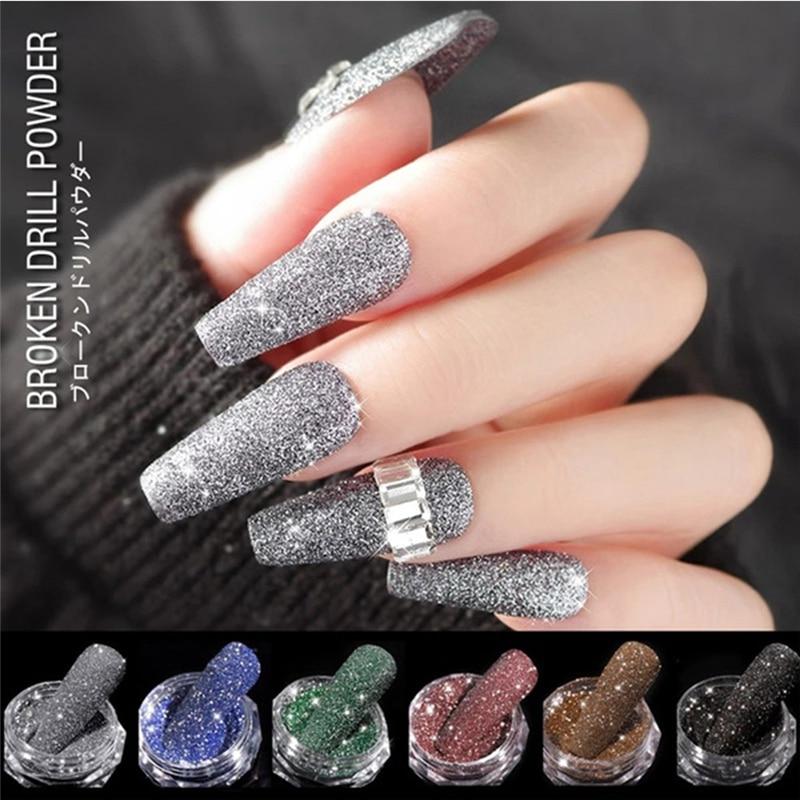 Sparkling Diamond Nail Powder Valentine's Day New Year Gift For Girlfriend Laser Shiny DIY Salon Nail Glitter Beauty Accessories