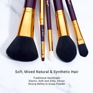 Image 3 - ג סאפ איפור מברשת סט סגול/זהב brochas maquillaje סינטטי שיער קוסמטי ערכת אבקת קרן סומק שפתונים 15pcs