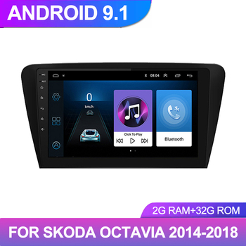 10.1inch 2Din Android 9.1 Multimedia Player Autoradio For Skoda Octavia 2014 2015 2016-2018 Car Radio GPS Navigation Head Unit image