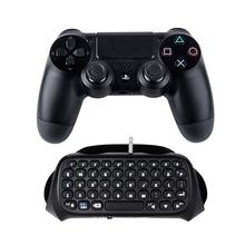 Mini Wireless Keyboard 3.5mm Plug Game Chat pad Message Keyboard for Sony for Playstation 4 for PS4 Controller Bluetooth 3.0