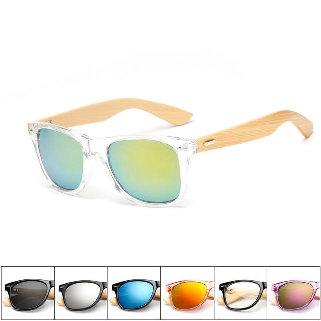 17 color Wood Sunglasses Men women square bamboo Women for women men Mirror Sun Glasses retro de sol masculino 2018 Handmade 3