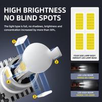 2pcs H7 LED Headlights  M5 Car LED Headlights 9005 9006 H7 H8 H9 H11 H4 Car Headlight Bulbs 6000K 2500LM 25W Headlights 5