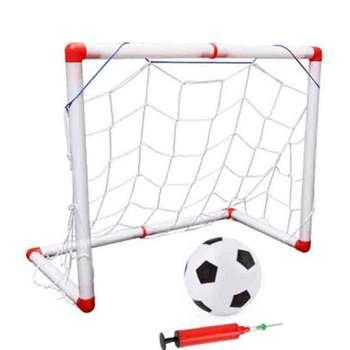 цена на Portable Folding Children Football Net Door Sports Toys Inflatable Football Soccer Goal Post Frame Set