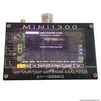 UV + HF Mini1300 4.3 Touch LCD 0.1 1300MHz 13.GHz HF/VHF/UHF ANT SWR Antenna Analyzer Meter + Rechargeable batery
