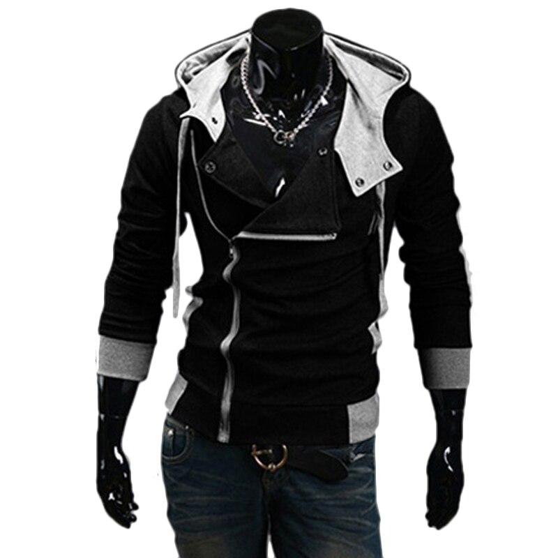 TANGYAXUAN 2019 Side Zipper Patchwork Hoodies Men Casual assasins creed Clothing mens hoodies and sweatshirts sudadera hombre 2