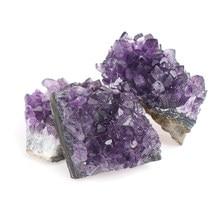 Natural ametista cluster quartzo cristal mineral espécime cura pedras presente áspero minério geografia ensino
