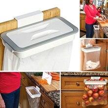 Держатель для мусорного мешка дверца шкафа мешок для мусора стеллаж для хранения ящик стене висит квадратный белый Удобная экономичная домашняя камера Кухня