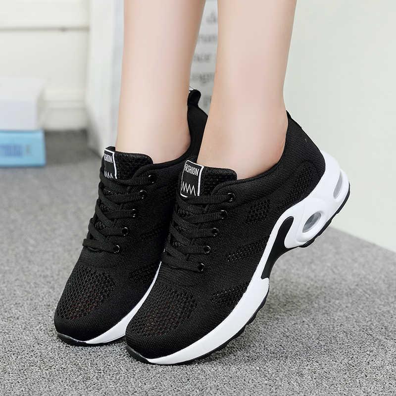 ผู้หญิงสบายๆรองเท้า Breathable 2019 รองเท้าผ้าใบสตรีใหม่แฟชั่นรองเท้าผ้าใบผู้หญิง Plus ขนาด 42 zapatos mujer