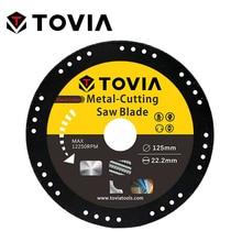 TOVIA BlackCutter 125*22мм Алмазный Диск по Металлу стали и нержавеющей стали для УШМ или Балкарки или угловой шлифовальной машины безопасный дизайн меньше искр тонкий диск толщиной 1.2мм