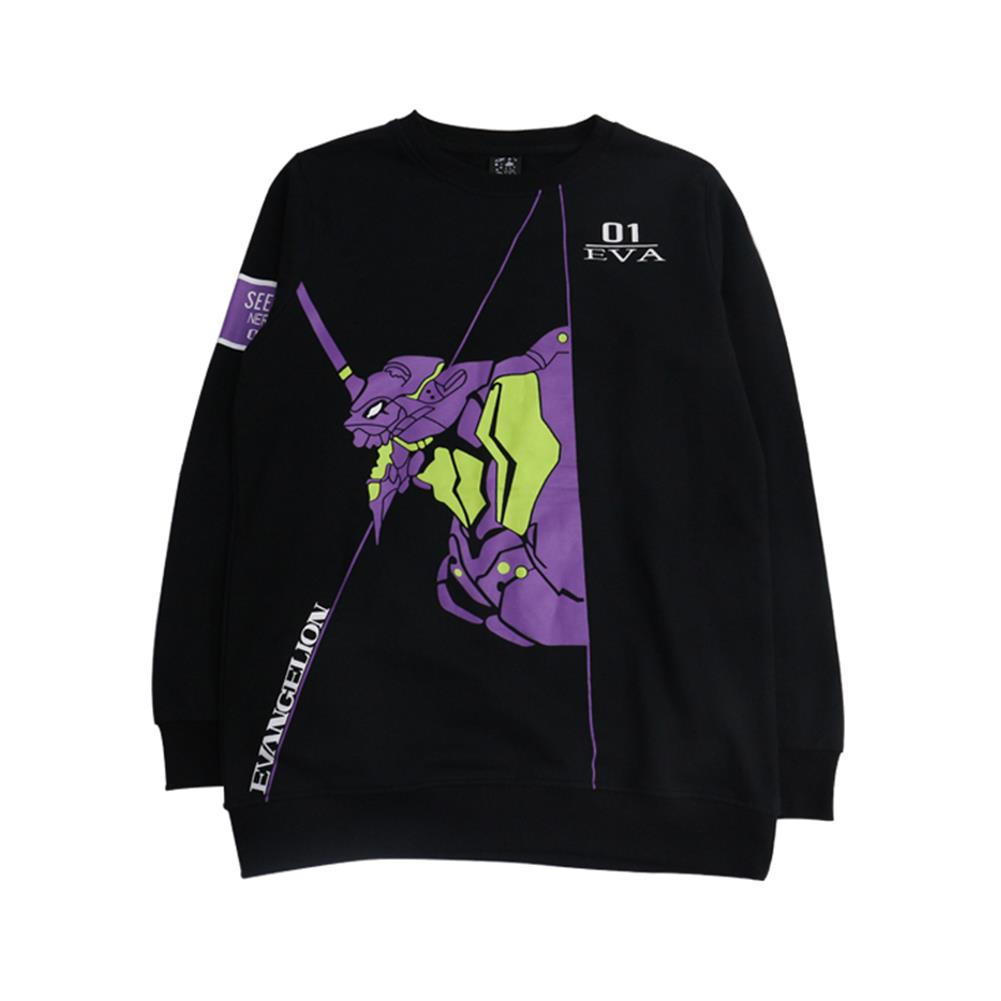Brdwn EVA NEON GENESIS EVANGELION Unisex EVA-01 TEST TYPE Cosplay Long Sleeve T-Shirt Tops