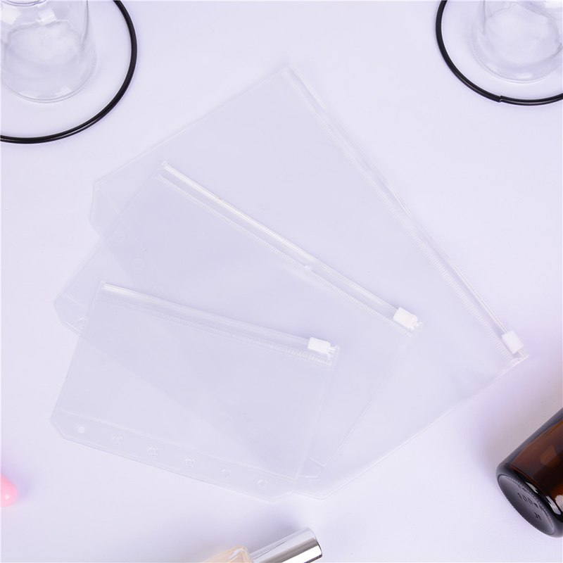 1 Pcs A5/A6/A7 Transparent File Storage Bag Zipper File Holder Document Organizer Pencil Case School Office Supplies