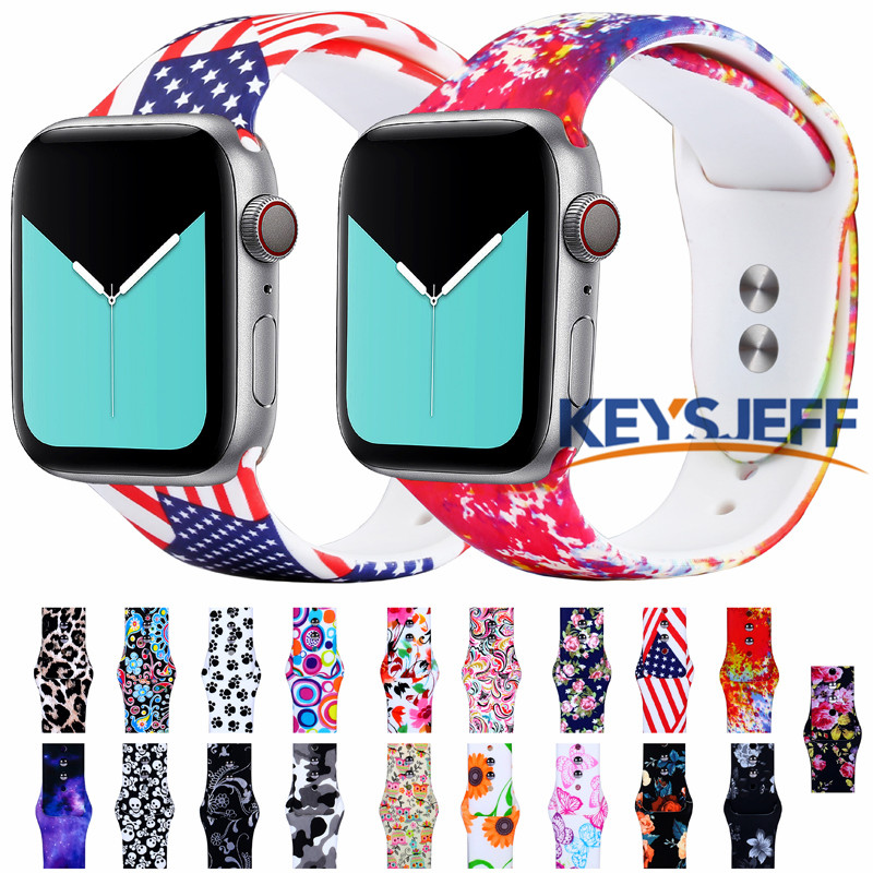 Pattern Printed Band For Apple Watch Band 38mm 40mm 42mm 44mm Apple Watch Strap Replacement Bands For IWatch Bracelet  81023