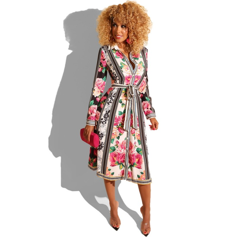 African Dresses For Women African Clothes Africa Long Shirt Dress Print Dashiki Ladies Clothing Ankara Africa Women Dress