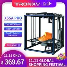 Tronxy X5SA برو محرك هادئ طابعة ثلاثية الأبعاد OSG مزدوجة المحور دليل خارجي السكك الحديدية سطح المكتب لتقوم بها بنفسك أطقم تيتان الطارد الطباعة خيوط تي بي يو