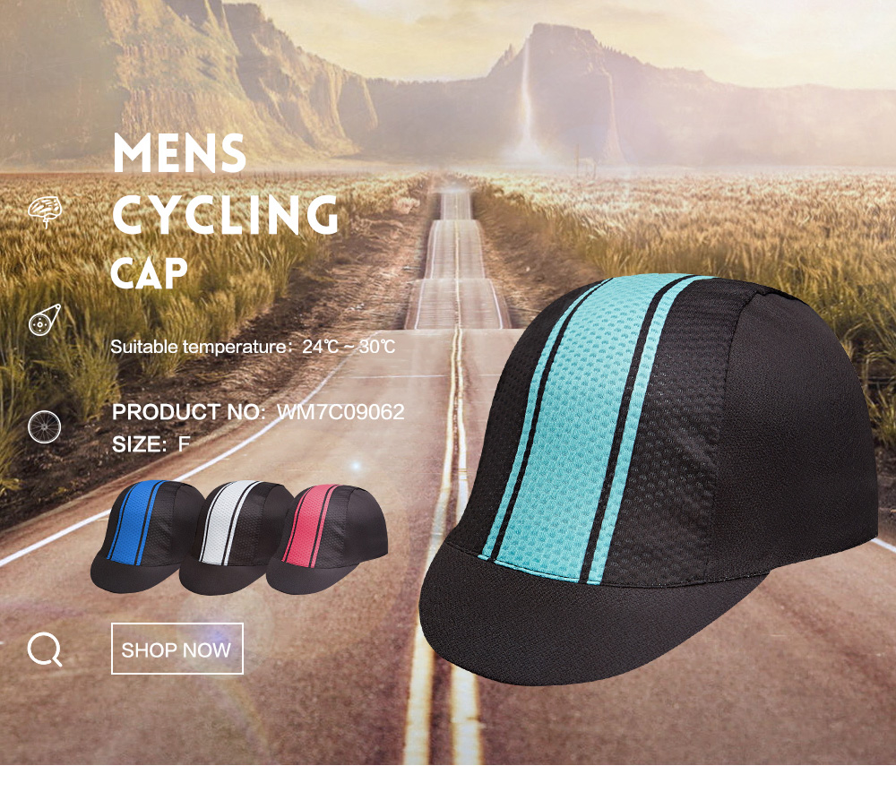 Santic Men and Women Bike Bicycle Cap MTB Cycling Caps Hat Windproof Outdoor Suitable for Spring Summer Free size W7C09062