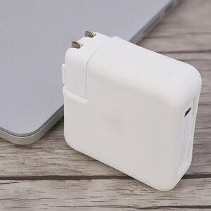 Image 5 - מחשב נייד מטען סיליקון כיסוי ארגונית מגיני Dustproof שרוולי מחשב נייד מתאם מגן מקרה עבור MacBook מתאם