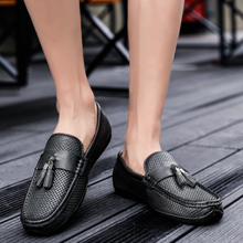 BVNOBET Mens Dress Shoes Soft Sole Slip-On Loafers Trendy Shoes Genuine Leather Men's Formal Shoes Herren Schuhe Italienisch italienisch