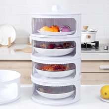 Insulation Dish Cover Leftovers Food Cover Multi-layer Creative Dust-Proof Fly-Proof and Odor-Proof Table Warm Plastic Cover