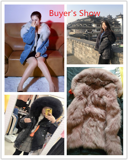 Fox Real Fur Coat Female Denim Jacket Winter Jacket Women Natural Fur Jackets For Women Korean Jacket Chaqueta Mujer My S
