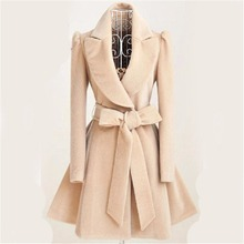 Специально для осени и зимы, Женское пальто,, тонкий длинный Тренч, пальто для женщин, милый бант, пояс, ветровка для женщин, кашемир